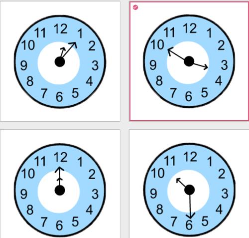 間違っている時計は?