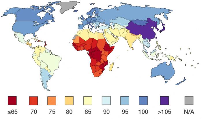 日本人の平均IQは世界で3位と地球人のIQ